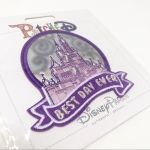 Disney Patched Castle Best Day Ever Purple Patch